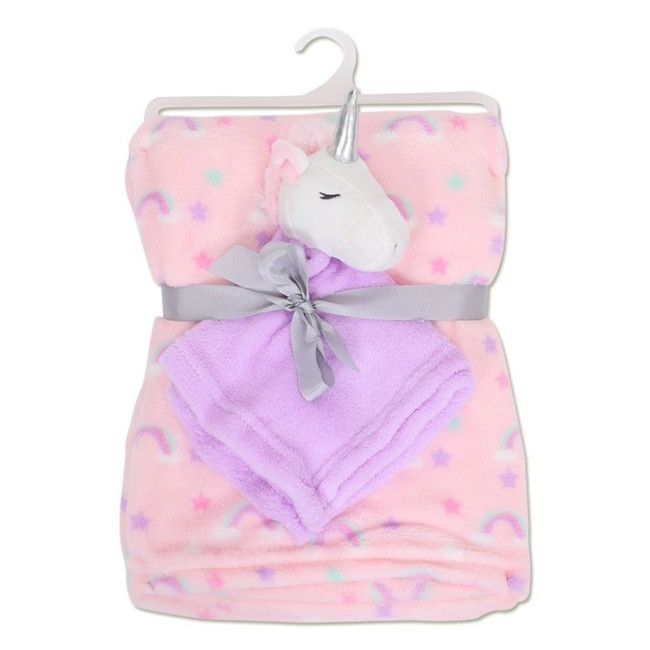 Fleece Blanket with Unicorn Comforter