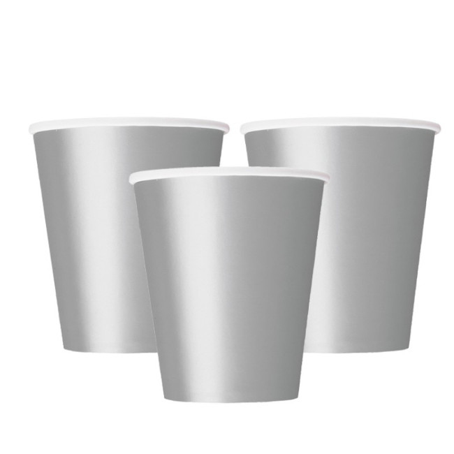 14 Paper Cups Silver 260ml